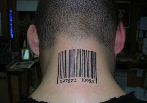 barcode tattoo on calf 31 different barcode tattoo ideas creativefan