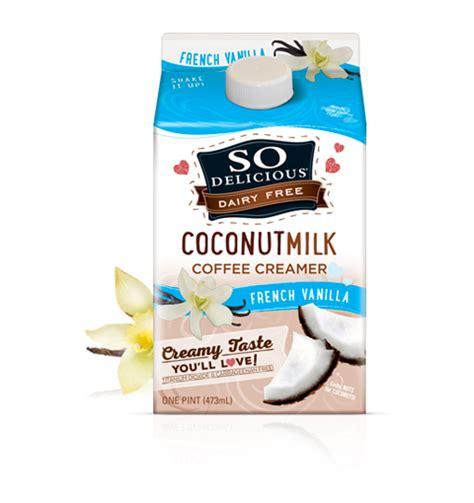 So Delicious Dairy Free   Coconutmilk Creamers   French Vanilla