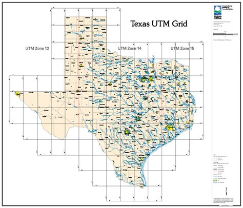 texas grid map map of texas rivers