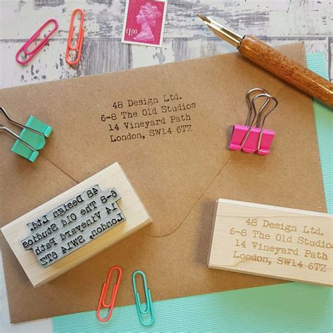 create custom rubber st personalised business custom address rubber st