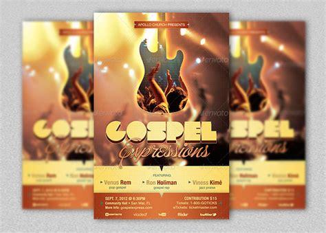 gospel flyer template ticket archives godserv market