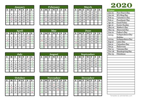 editable  yearly calendar landscape  printable templates