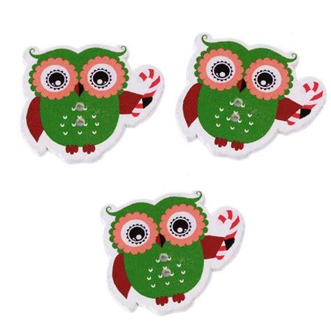 Owl Wooden Button 50pcs lot green owl wooden buttons sewing children animal