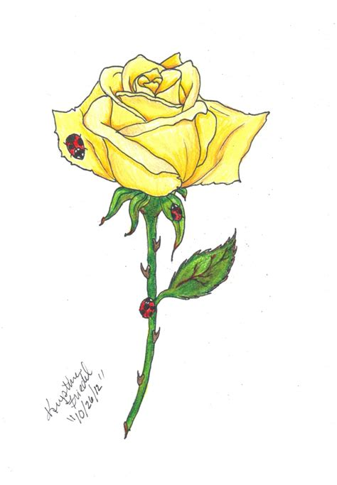 yellow rose tattoo designs 2 yellow designs
