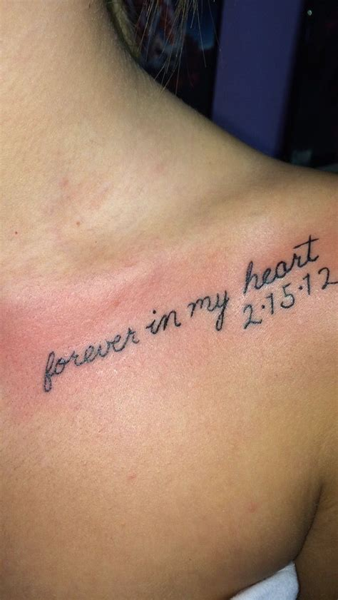 forever in my heart tattoo best 25 remembrance tattoos ideas on memorial