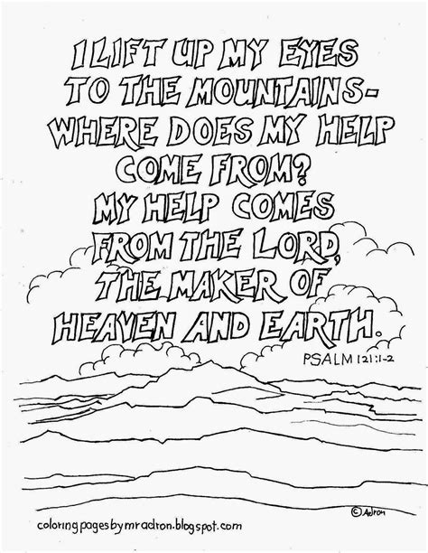 coloring pages for kids by mr adron psalm 121 1 2