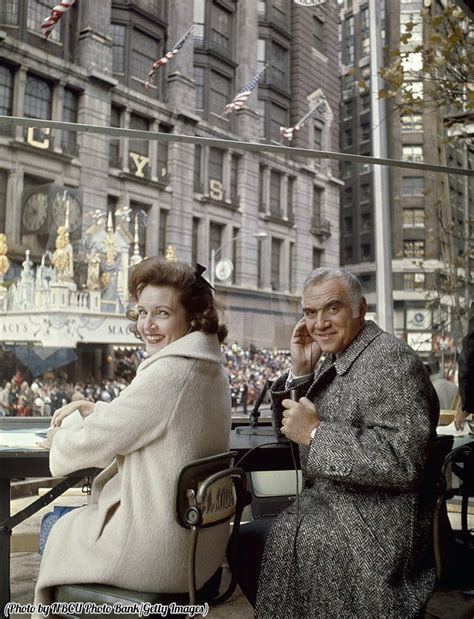 day betty white betty white and lorne greene hoting the 1965 macy s