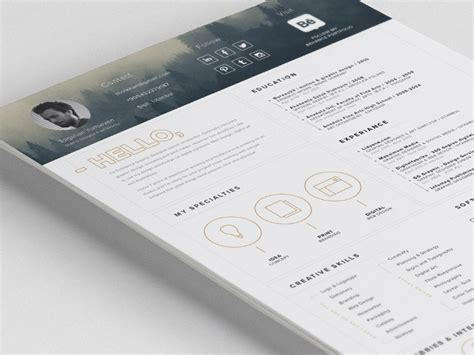 Impressive Resume Templates by Free Impressive Resume Template With Icon Set