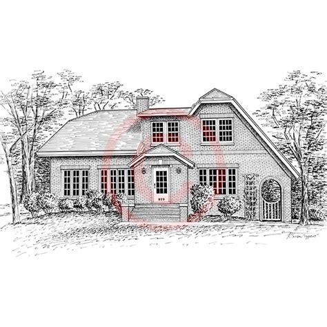 residential ink home design drafting custom pen ink drawings and portraits by kelli swan