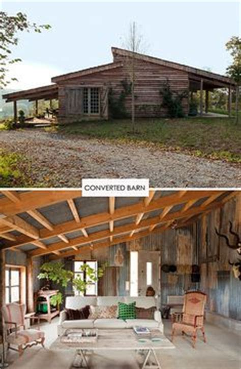 cabin cheery i like corrugated roofing used in converted barn homes on