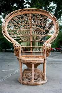 Wicker Armchairs Uk Linda Vintage Wicker Peacock Chair Natural English England