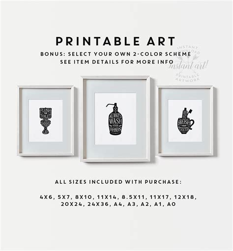 free printable wall art for bathroom bathroom wall decor printable art gallery prints set of 3