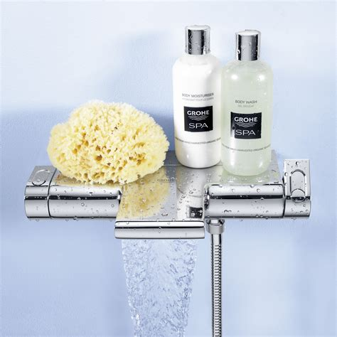 grohe bath shower mixer thermostatic grohe grohtherm 2000 thermostatic bath mixer 1 2 quot wall