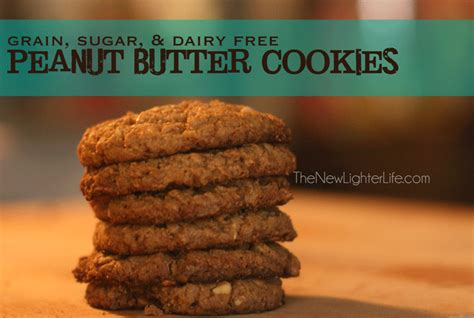 how to make peanut butter cookies without sugar or grains