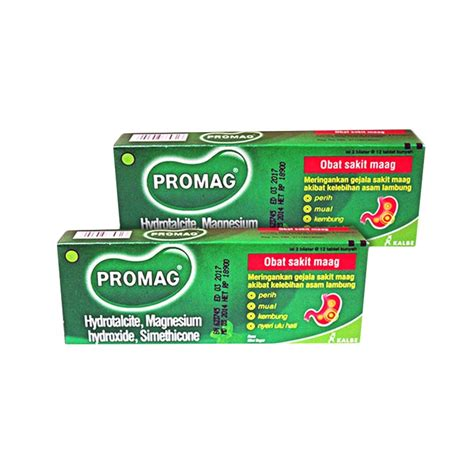 Promag 12 Tablet jual daily deals promag tablet obat maag 2 box