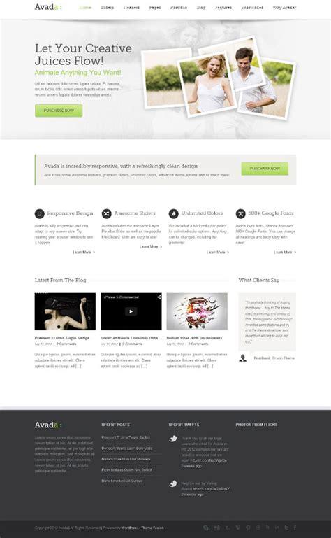 avada theme homepage blog best 5 wordpress themes november 2014 on themeforest
