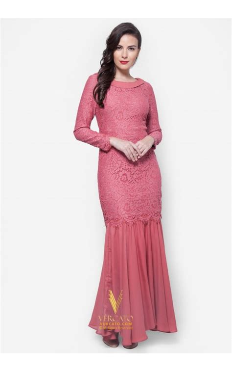List Dress Murah Baju Menyusui Ruby Dress baju kurung moden lace vercato mila in pink