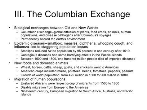 Columbian Exchange Essay by Columbian Exchange Essay Questions