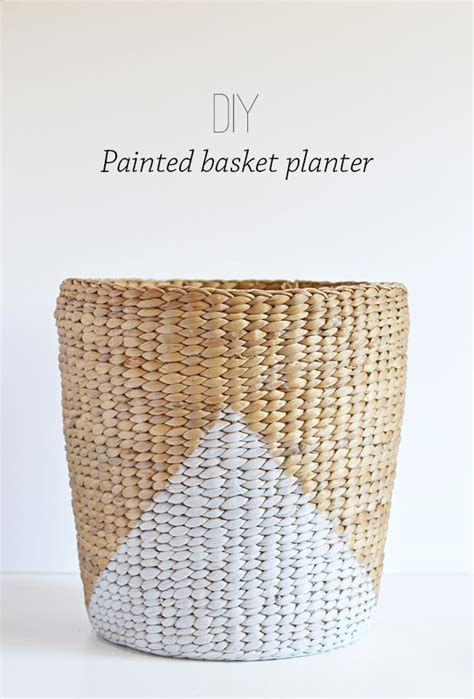 Basket Planter by Diy Painted Basket Planter Make And Tell