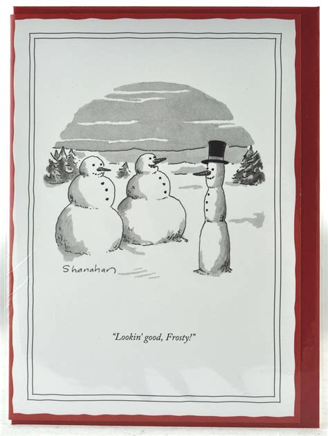 Looking Good 5x7 Christmas Card   New Yorker Xmas Cards Funny Humorous Cartoons for a Unique