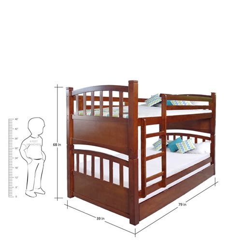 Bunk Bed With Pull Out Bed Buy Mclamar Bunk Bed With Pull Out In Walnut Finish By Mollycoddle Bunk Beds Beds
