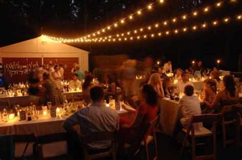 Diy Outdoor Wedding Lighting Real Weddings Sherry And S Backyard Diy Wedding