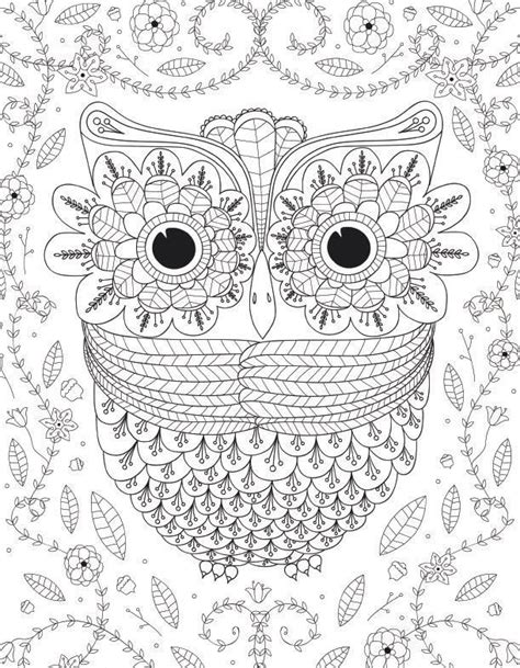 coloring page for adults owl 55 best images about раскраски on pinterest book