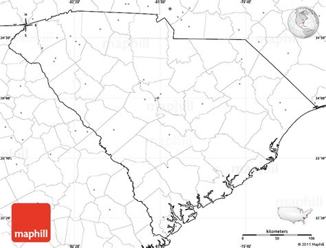 blank map south carolina blank simple map of south carolina no labels