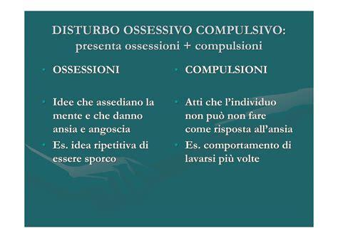 disturbi ossessivi compulsivi test disturbo ossessivo compulsivo dispense
