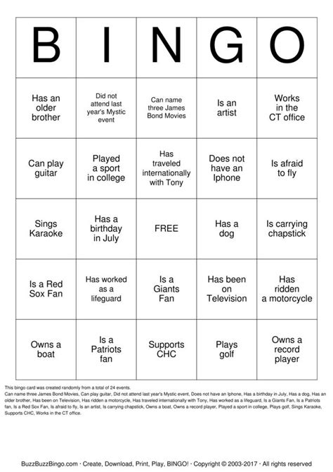 icebreaker bingo template for school pictures to pin on