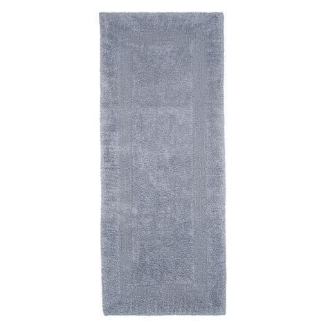 bathroom runners cotton lavish home silver 2 ft x 5 ft cotton reversible extra