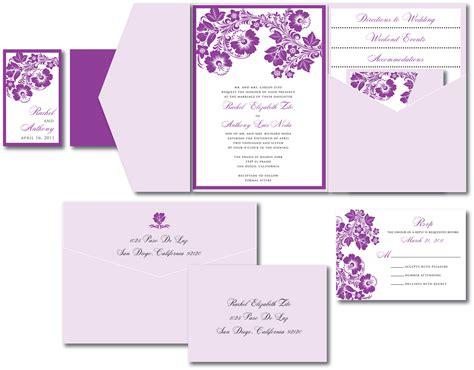 purple tandem bike wedding invitation template wedding invitation