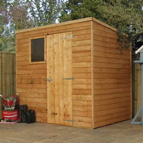 Garden Sheds Cambridge by Shedswarehouse Oxford 7ft X 5ft Cambridge Overlap Pent Shed With Single Door 1 Window