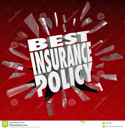 best insurance best insurance policy words coverage health care protection stock illustration image