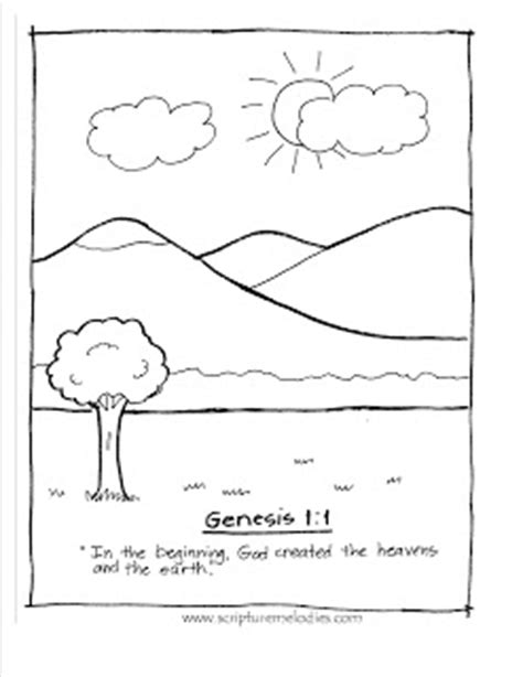 Genesis 1 Coloring Page by Scripture Melodies Coloring Pages