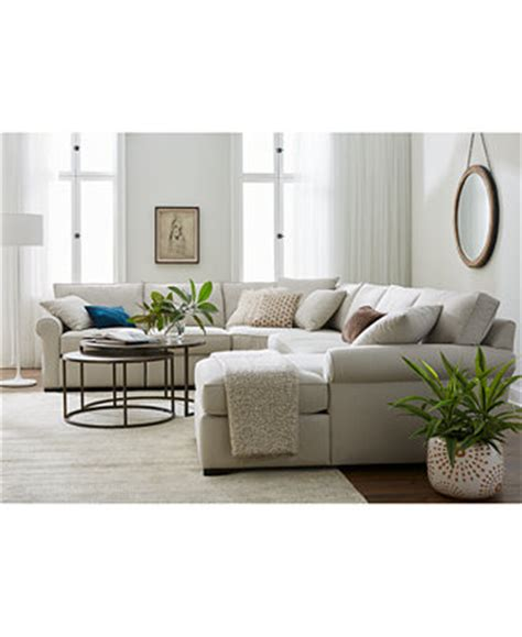 Macys Sectional Sofas Astra Fabric Sectional Collection Created For Macy S Furniture Macy S