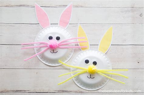 Easter Bunny Paper Plate Craft - paper plate easter bunny craft the best ideas for