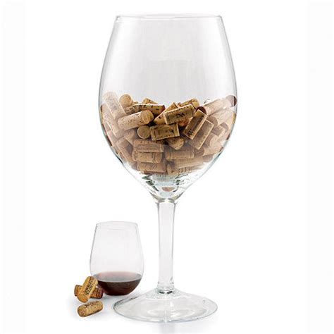 oversized chagne glass centerpieces oversized wine glass cork holder wine enthusiast