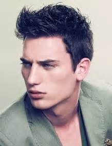 haircut parted on side spiked in front emoo fashion men s haircut trends for 2012