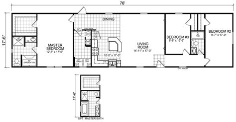 18 foot wide mobile home floor plans