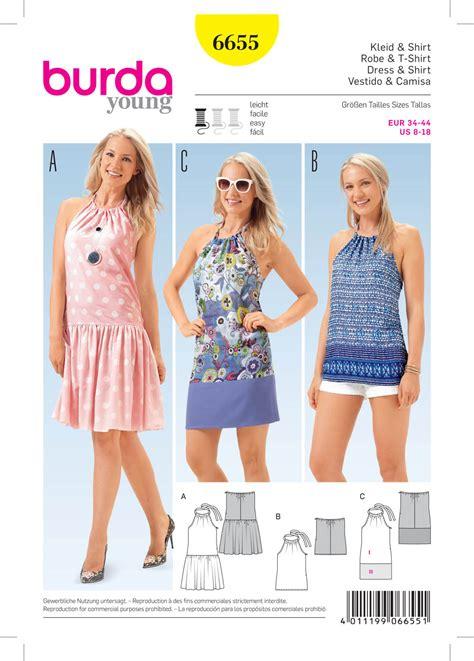 patterns free burda burda 6655 misses dress and shirt