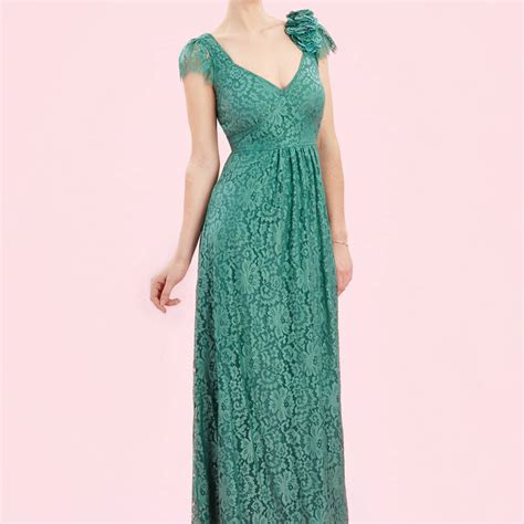 Maxi Dress Maxi Shanghai maxi dress in shanghai green flower lace by nancy mac