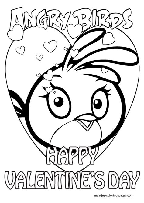 angry birds valentine coloring pages angry birds valentines day coloring pages for kids