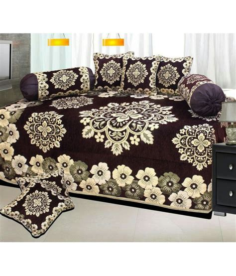 Single Home Decor by P Home Decor Single Chenille Floral Diwan Set Buy P Home