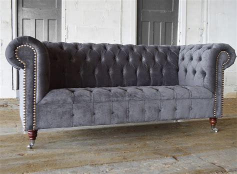 grey velvet chesterfield sofa edwardian velvet chesterfield sofa abode sofas