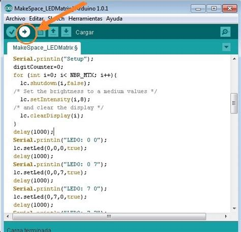 arduino code exles led matrix with arduino all