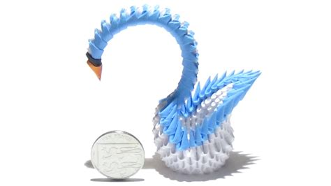 swan origami 3d step by step how to make a mini 3d origami swan