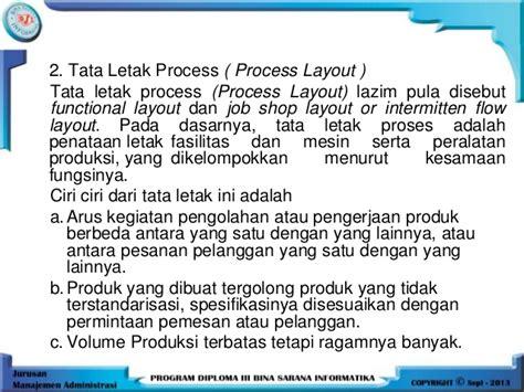 fixed layout adalah manajemen produksi