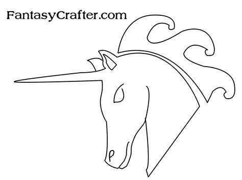 pattern unicorn head dragon template printable own sts with free