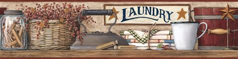 Laundry Room Border by Country Laundry Shelf Wallpaper Border Hk4633bd Laundry Room
